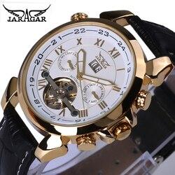2018 Jaragar męska znani męskie zegarki Top marka luksusowe dzień/tydzień Tourbillon automatyczne mechaniczne zegarki zegarek pudełko|Zegarki mechaniczne|Zegarki -