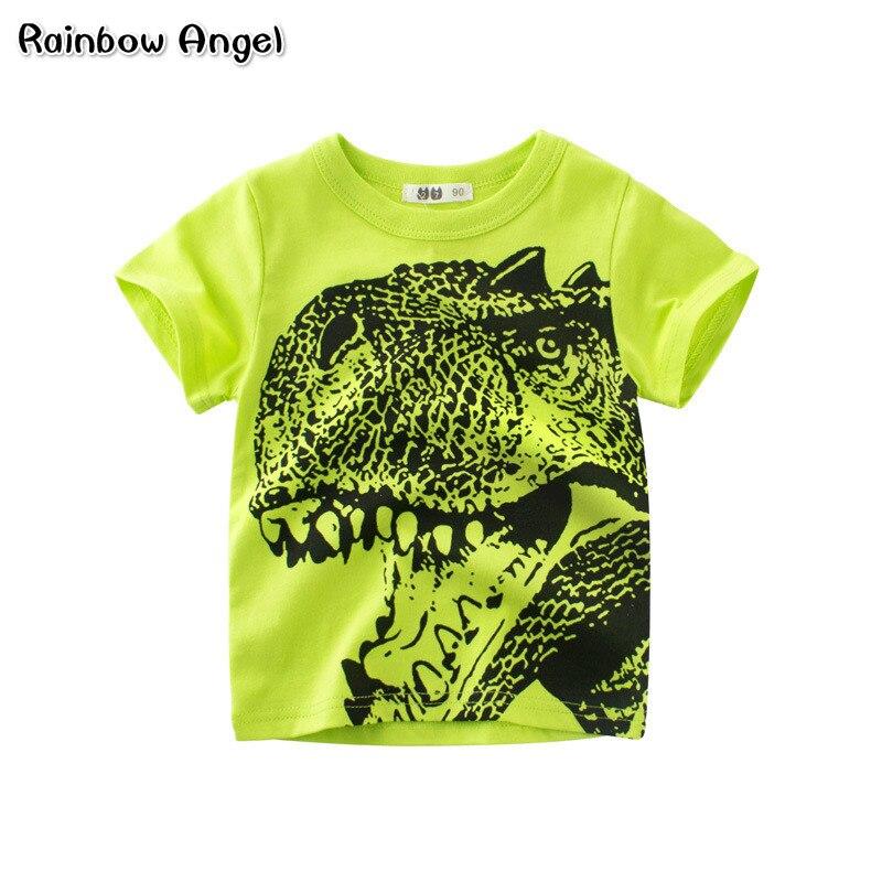 100% Wahr Marke Jungen T Shirt Sommer Cartoon Dinosaurier T-shirt Kinder Kleidung Kleinkind 100% Baumwolle Tops T Baby Junge Kinder