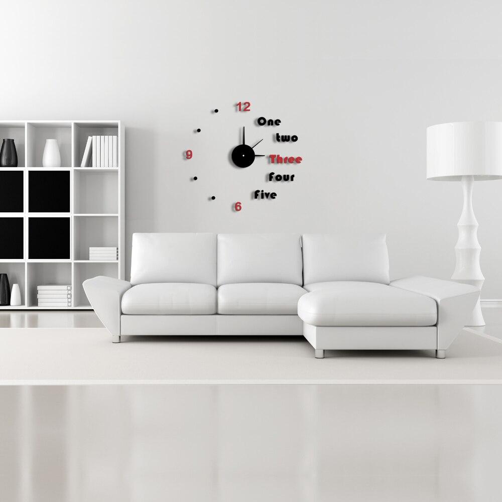Modern Diy Home Decor 2016 modern diy red & black color home removable decoration 3d