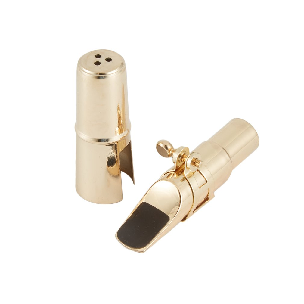 High Quality Jazz Alto Sax Saxophone Mouthpiece 7C Metal With Mouthpiece Patches Pads Cushions Cap Buckle Gold Plating