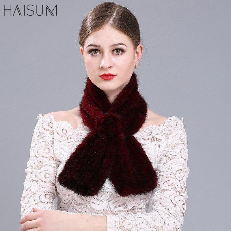 Écharpe d'hiver des femmes coréennes mode mignon écharpe de fourrure chaude automne et hiver vison cheveux fleur écharpe épaisse MZ95