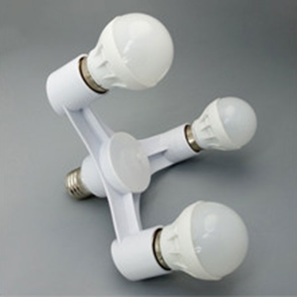 New High Quality 3 In 1 E27 To E27 LED Lamp Bulbs Socket Splitter Adapter Holder For Photo Studio NE