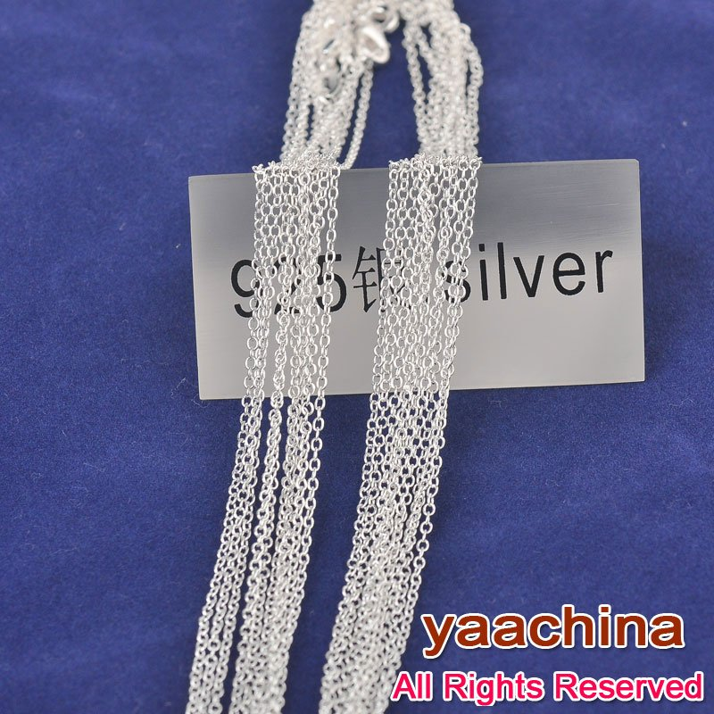 Fine Shiny 925 Sterling Silver Necklace Chains Woman Man 30 Inches Lobster clasps 1 - S-925 Store store