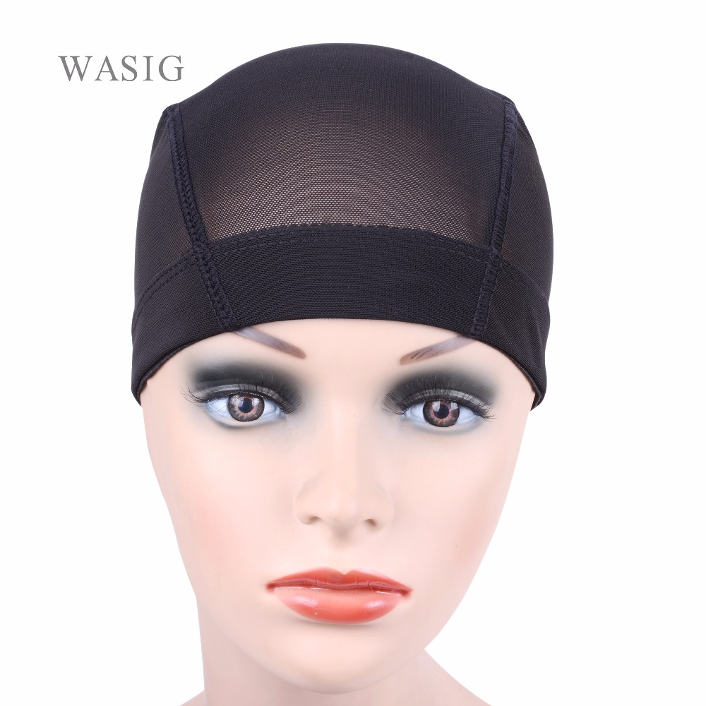 Loof 1pc New Glueless Hair Wig Caps For Making Wigs Breathable Spandex Net Elastic Dome Wig Cap Black Tools & Accessories