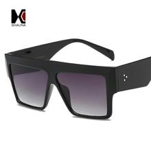 SHAUNA Oversize Square Sunglasses Women Brand Designer Nail Decoration Double Colors Frame Gradient Sun Glasses Men