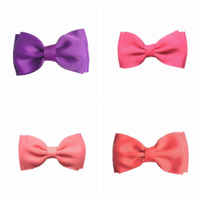 Crianças acessórios para o cabelo headbands flor de cetim fita Dupla mini bow com clipes recém-nascidos headbands headwrap hairband tiara