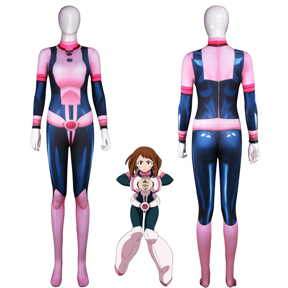 Uraraka Cosplay Costume Spandex 3D Printing Cosplay Uraraka Freeshipping Halloween costumes for woman