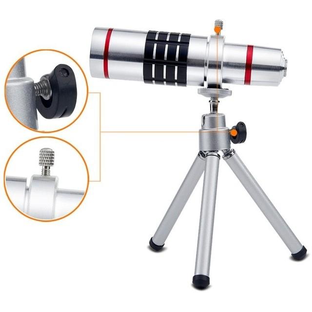 Hd lentes de teléfono kit 18x zoom telescopio lente telefoto teleobjetivo para samsung S5 S6 S7 borde Más Con Casos Trípode Bluetooth Control Remoto