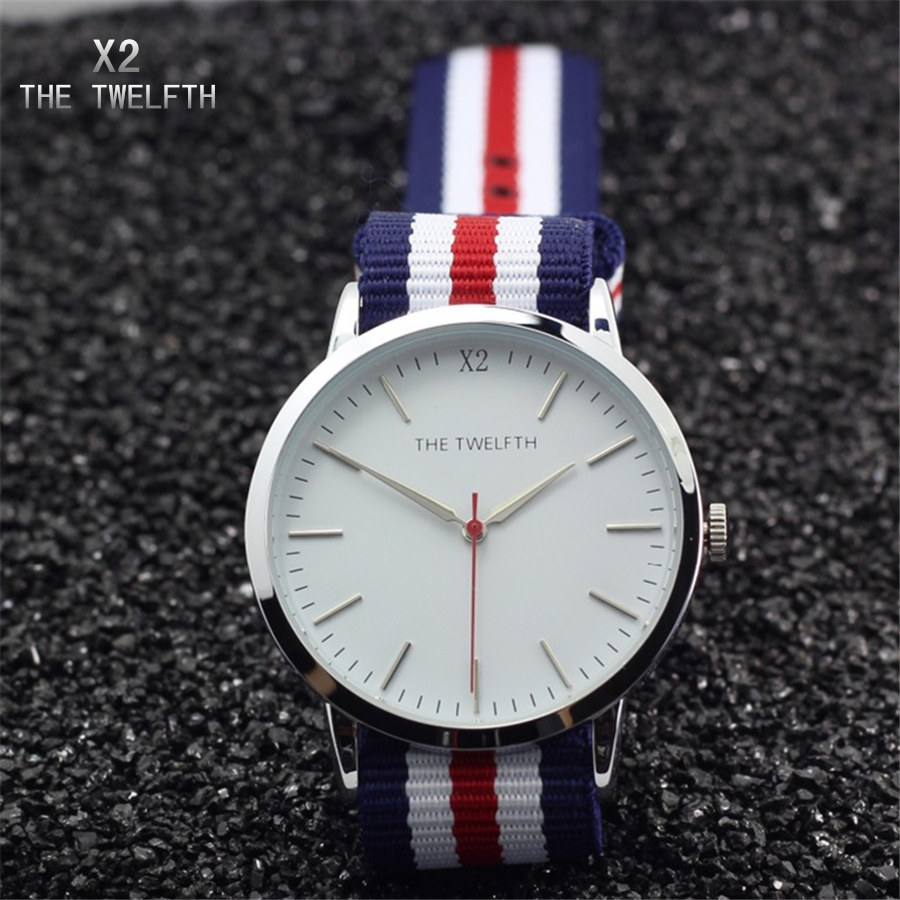 Horloges vrouwen Top brands X2 THE TWELFTH Watch women nylon strap quartz watch 2019 New arrival fashion waterproof clock