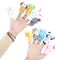 10Pcs Family Finger Puppets Cloth Doll Baby Educational Hand Cartoon Animals Toy 0-12 Monthes -- BYC023 PT20