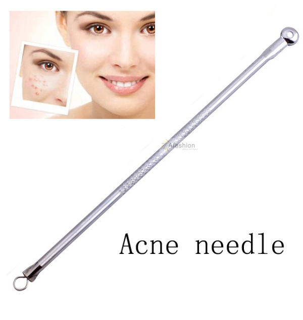 2pcs Round Head Safety Antibacterial Acne Needle Black Head Pimples Tool Face Care Blackhead Comedone Blemish Extractor Remover