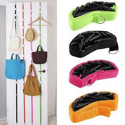 Bathroom Fixtures Robe Hooks Adjustable Overdoor Strap Hanger Hat Bag Clothes Coat Rack Home Organizer 7 Hooks Home Bathroom Bedroom Supply