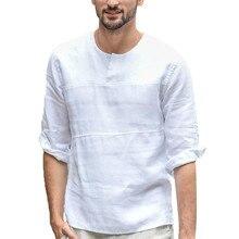 Модный купальный костюм для мужчин, длинная однотонная хлопковая и Укороченная рубашка с рукавом семь четвертей, camiseta surf hombre 30J22