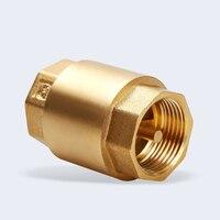 1pc DN32/DN40/DN50 NPT Brass Thread In Line Spring Check Valve 40mm Diameter 200WOG For Water Control