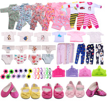 Free Shipping Doll Clothes 1Set=7 Pcs Doll Clothes Shoes Acc