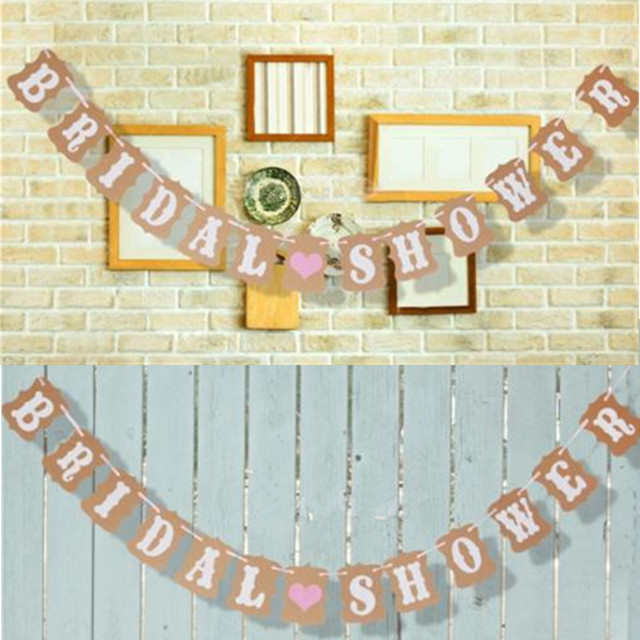2017 Natural Materials Vintage Wedding Bunting Banner Photo Booth Props Garland Bridal Shower Decoration