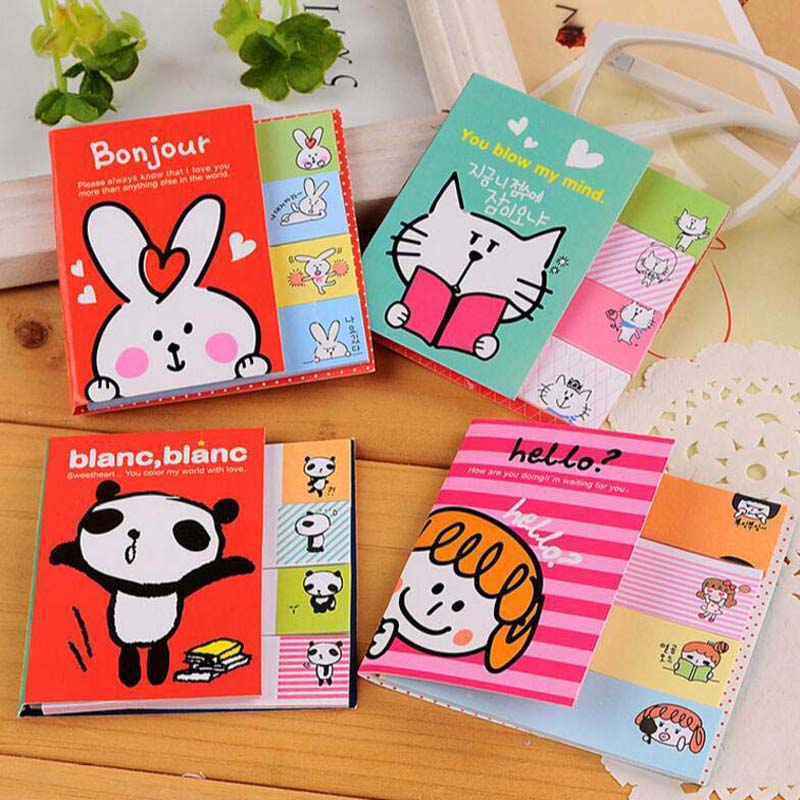 10 sets/lot Cartoon Sticky Notes Post It Memo Pad School Supplies Office Planner Stickers Paper Bookmarks Stationery Papelaria