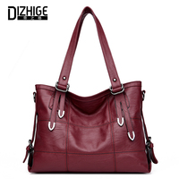 DIZHIGE Women Shoulder Bag Female High Quality PU Leather Handbag Ladies Large Capacity Casual Totes Bags