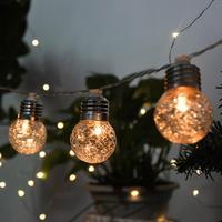 4 m 10led solar powered lâmpadas led luzes da corda para iluminação ao ar livre pátio rua jardim led luzes de fadas natal guirlanda Lâmpadas solares     -