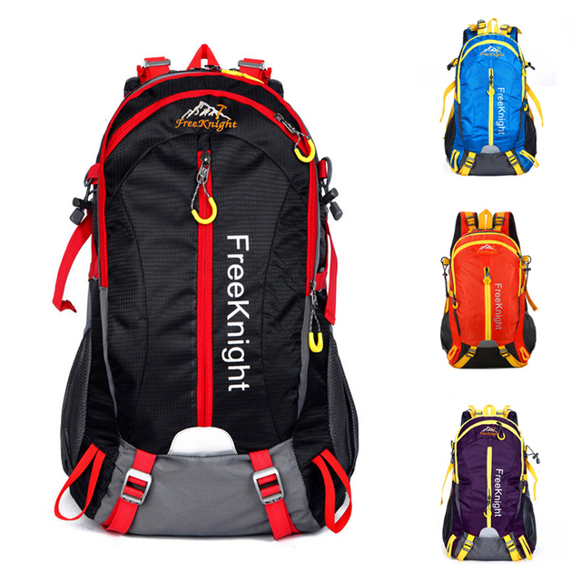 Free Knight 40L Camping Hiking Backpack For Climbing Travelling Trekking  Outdoor Men Women Sport Bags Tourist Backpack 6 Colors 7d0f34b03f