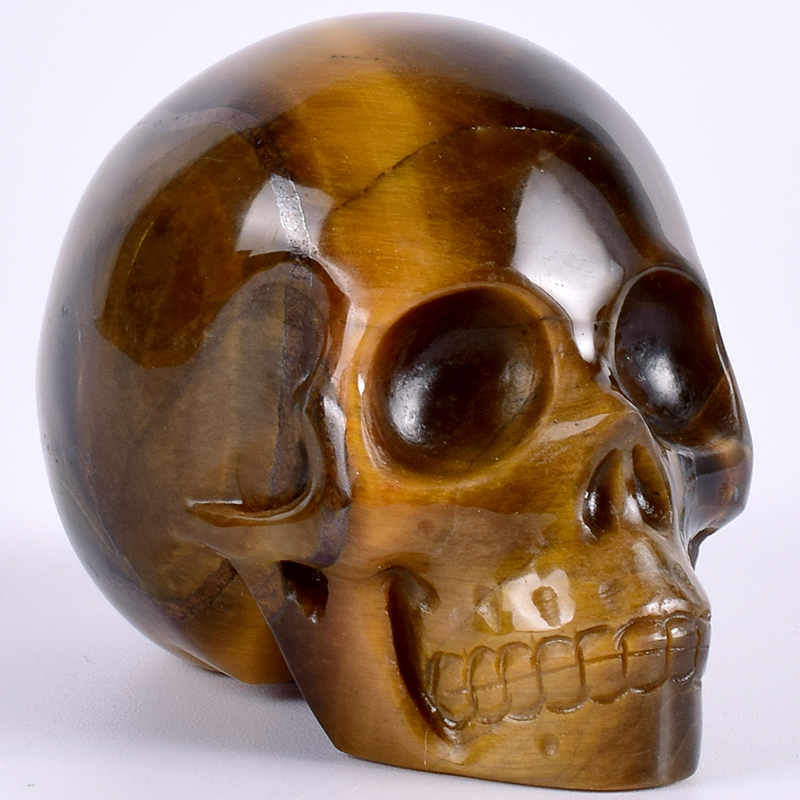 Healing Crystal Stone Human Reiki Skull Figurine Statue Sculptures Hand Carved Tiger Eye Skull For Home Decor 3 Feng Shui Healing Crystal Stone Human Reiki Skull Figurine Statue Sculptures Hand Carved Tiger Eye Skull For Home Decor 3 Feng Shui