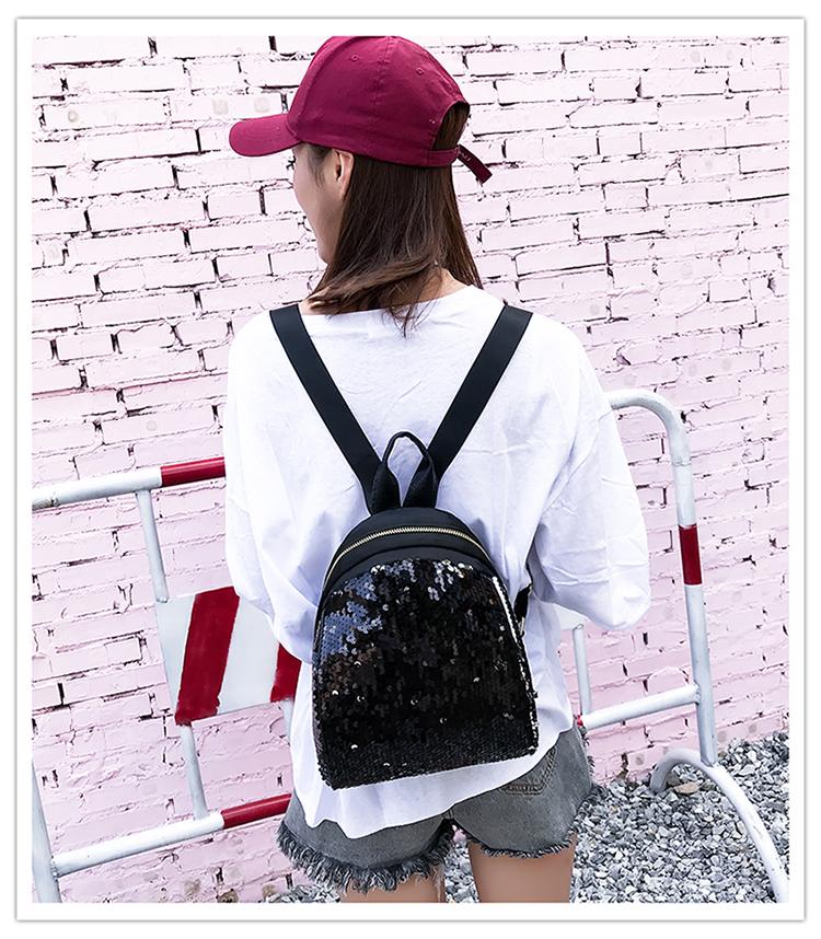 Backpacks women Korean mini 2018 new sequined shell fashion trend women go with small backpacks travel backpack 84