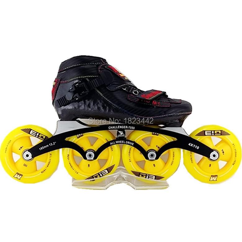 Simmon Pro M1 roues en ligne 4 patines profesionales patinage de vitesse matière G13 matière F2 roues de patinage pour femme et homme