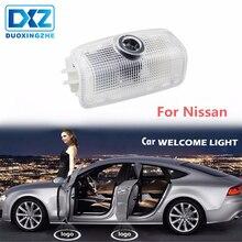 DXZ 2pcs Led Car Door Light 3D Shadow Projector Lamp For Nissan Teana 2008-2012 Patrol 2012-2018