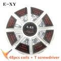 E-XY Resistance Wire 8IN1 Box Demon Prebuilt Coils Clapton Quad Tiger Hive Alien Fused killer Twisted For RDA RTA Atomizer Vapor
