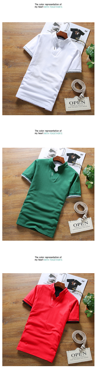 2019 New Arrival Cotton Men Polo Shirt Tops Fashion Brand Plus Size Short Sleeve Black White Polo Shirt Homme Camisa 5XL 19