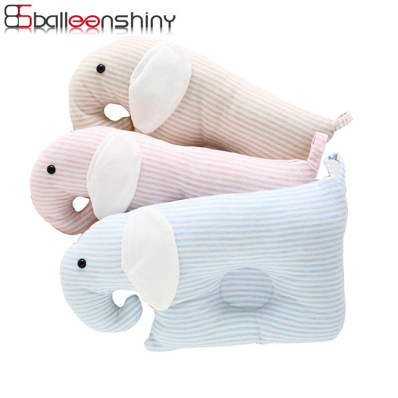 BalleenShiny Newborn Shaping Pillows Baby Cute Cartoon Comfortable Prevent Flat Head Infant Sleep Cushion Room Decoration Pillow