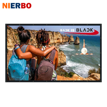 Outdoor Projector Screen 136 Inch Home Theater Video Movie Film Front Projection Black PVC Foldable Wall Mounted