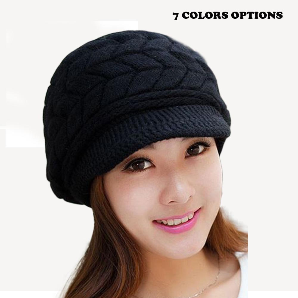 Womens Fall Fashion Hats Twist Pattern Beanies Winter Gorros for Female Knitted Warm Skullies Touca Chapeu Feminino Rabbit fur mengpipi womens letters knitted hats winter glass sequins beanie hat cap chapeu gorros de lana touca casquette cappelli bonnets
