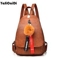 Fashion Leisure Women Backpacks Women S PU Leather Backpacks Full Ball School Shoulder Bags For Teenage