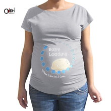 440000b2257cf Osunlin Peeking Captain Baby Funny Pregnancy Superhero Tees I'm Pregnant T  Shirt(China