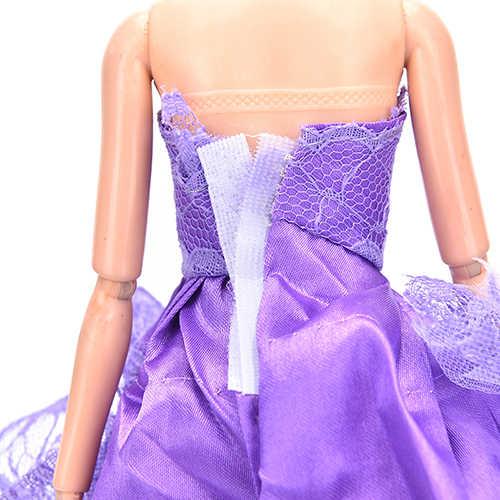 1 pçs boneca de luxo floral vestido roupas rendas elegantes multi camadas vestido casamento para bonecas acessórios venda quente