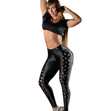 2018 New Fashion Summer Women's Hollow Out Workout Fitness Leggings Pants Clothes leggings women leggins women workout leggings