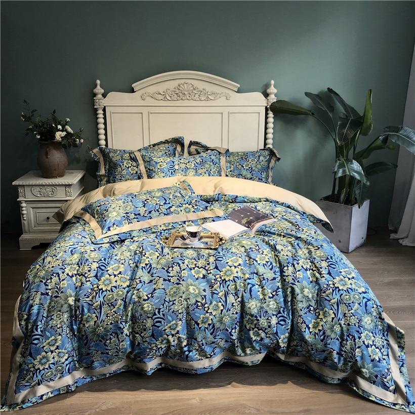 Ev ve Bahçe'ten Yatak Takımları'de 600TC Mısır Pamuk Kral kraliçe nevresim takımı Lüks Nevresim yatak takımı Yatak çarşafları/çarşaf parure de yaktı ropa de cama'da  Grup 1