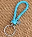 Hot Selling 15 Colors Handmade braid PU Leather Keychain Fashion Keyring Key Chain For Men Women