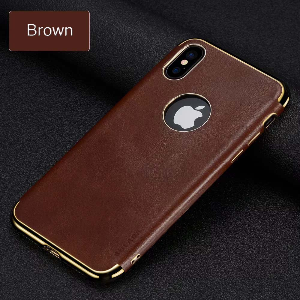 cheap for discount fbfcd 5abae US $8.54 5% OFF|for Apple iPhone X Leather Case Business Embedded Metal  Plate Magnetic Car Holder Plating Covers for iPhone X-in Fitted Cases from  ...