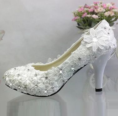 Ivory Color Wedding Shoes | Detail Feedback Questions About Women S Lace Flowers Wedding Shoes