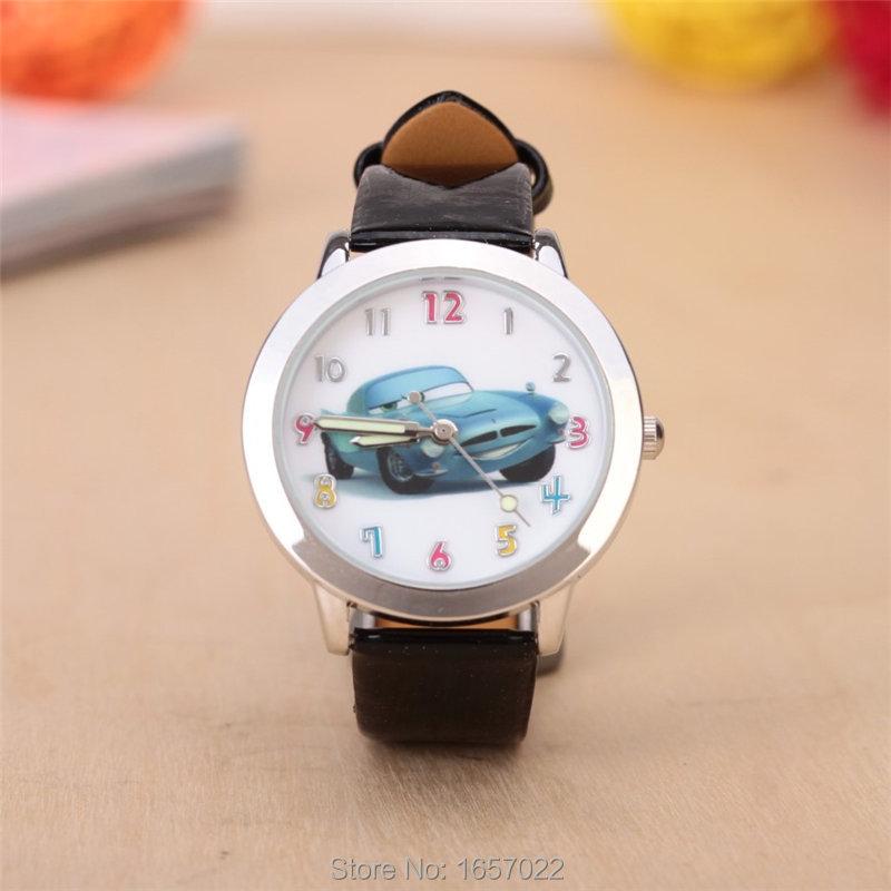 promotion children Relojes de dibujos animados leather watch student car dial and lumilous hands gift quartz
