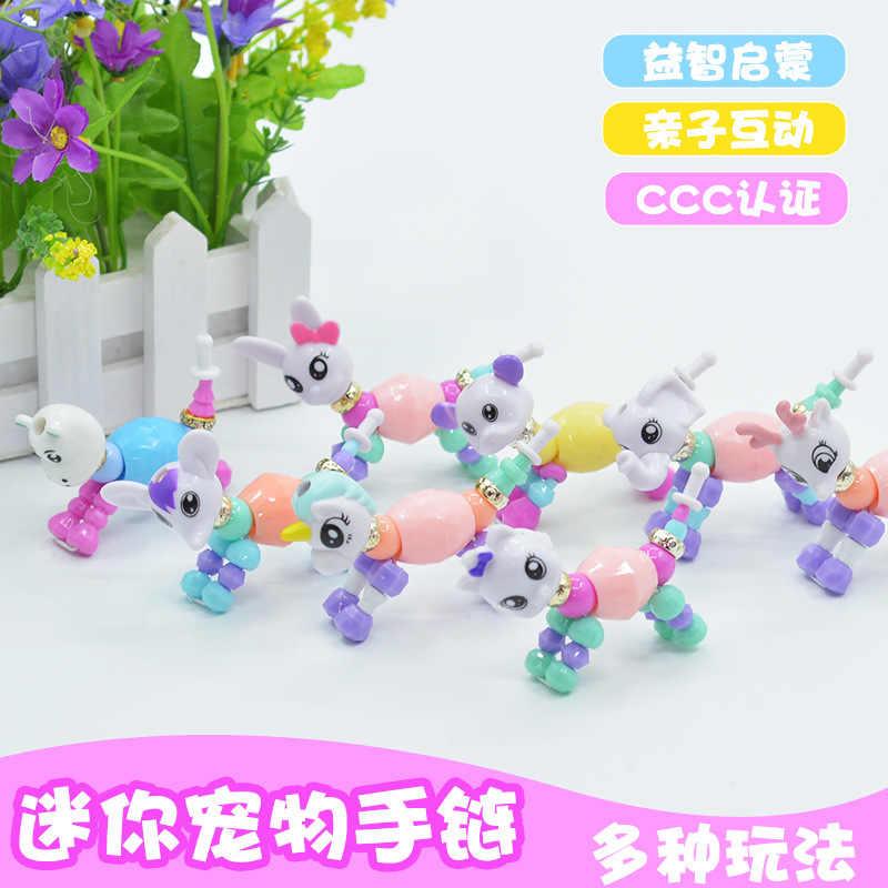 חדש Creative מעודן צמיד Twisted קסם תכשיטי בעלי החיים צעצוע צמיד קלאסי מסיבת ילדי אופנה חמוד ילדה מתנות-TOY021