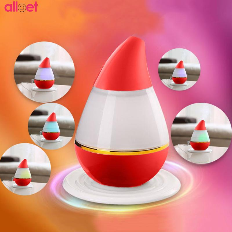 Water Drop Mini Ultrasonic Humidifier LED USB Purifier Atomizer Air Diffuser USB Power Aroma Air Moist Moisture For Car Home 5v led lighting usb mini air humidifier 250ml bottle included air diffuser purifier atomizer for desktop car