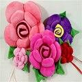 Rose Forma de Flor Presentes de Casamento Amante Cadeira Do Sofá Lance Vermelho Almofada Travesseiro Brinquedo de Pelúcia 30 cm 40 cm Atacado 7 cores J821
