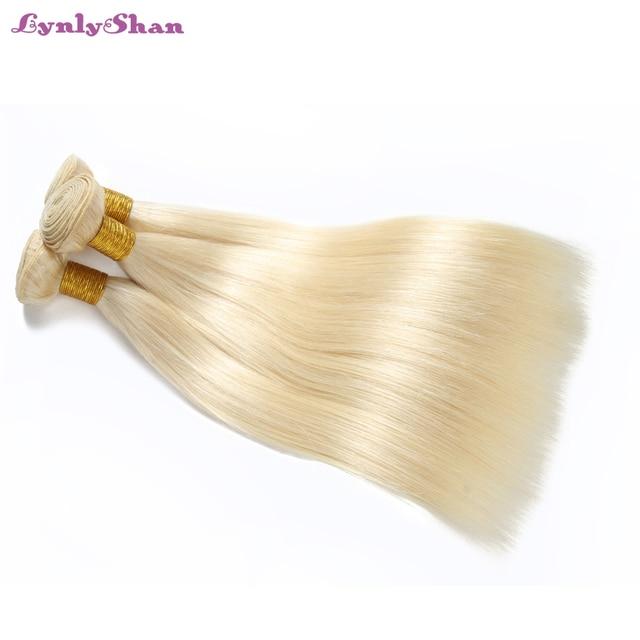 Lynlyshan שיער 613 גוף גל 3 יח'\חבילה דבש בלונד חבילות פרואני שיער טבעי מארג רמי שיער טבעי הארכת 10-30 אינץ