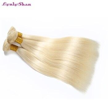 Lynlyshan Hair 613 Straight Hair 3 Pcs/Lot Honey Blonde Bundles Peruvian Human Hair Weave Remy Hair Extension 10-30 Inch lynlyshan straight peruvian remy human hair 613 blonde wigs 150