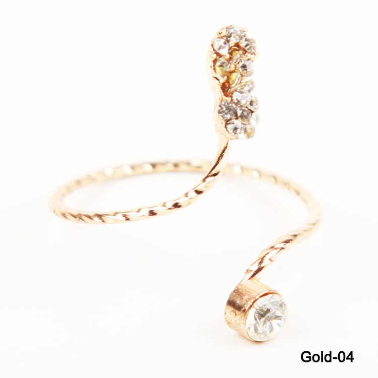Charmant bijoux 2 couleurs papillon serpent étoile de mer torsadé Knuckle doigt femme anneau
