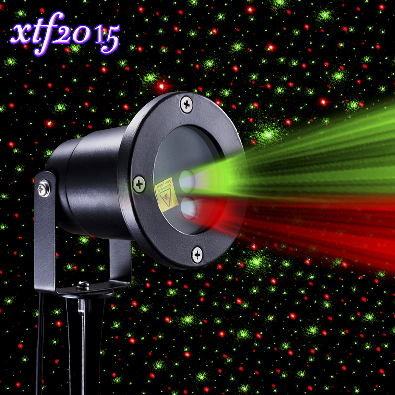 Xtf2015 Red And Green Sparkling Star Stage Effect Light