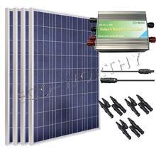 400 Watt Solar Panel Kit 4 pieces 100 W Solar Panel w MC 4 Branch Connector & Controller